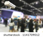 image of cctv security camera... | Shutterstock . vector #1141709012