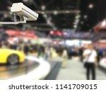 image of cctv security camera... | Shutterstock . vector #1141709015