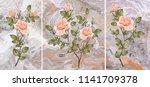 collection of designer oil... | Shutterstock . vector #1141709378
