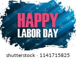 united states labor day... | Shutterstock .eps vector #1141715825