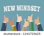 new mindset approve. | Shutterstock .eps vector #1141723625