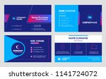 set of business card templates. ... | Shutterstock .eps vector #1141724072