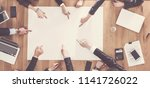 business people sitting at...   Shutterstock . vector #1141726022