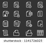 document vector icon....   Shutterstock .eps vector #1141726025