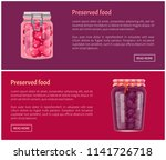 preserved food banners with... | Shutterstock .eps vector #1141726718