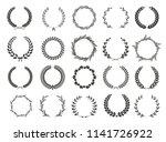 set of laurel wreaths. heraldic ... | Shutterstock .eps vector #1141726922