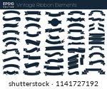 nice vintage ribbon elements... | Shutterstock .eps vector #1141727192