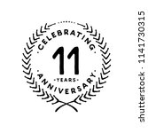 11 years design template. 11th... | Shutterstock .eps vector #1141730315