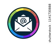 business mail   app icon | Shutterstock .eps vector #1141730888