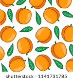 pattern with peaches. perfect... | Shutterstock .eps vector #1141731785