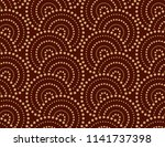 the geometric pattern with wavy ... | Shutterstock .eps vector #1141737398