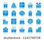 gift boxes silhouette icons set.... | Shutterstock .eps vector #1141740728