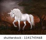 Concept Of A Magical Unicorn...