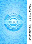 publicity light blue emblem.... | Shutterstock .eps vector #1141750982