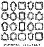 baroque mirror frames great set ... | Shutterstock .eps vector #1141751375