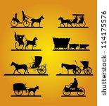 antique american pioneer... | Shutterstock .eps vector #114175576