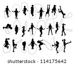 vector set of children shapes...