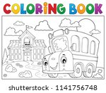 coloring book school bus theme... | Shutterstock .eps vector #1141756748