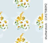 seamless floral pattern with... | Shutterstock .eps vector #1141758092