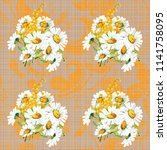 seamless floral pattern with... | Shutterstock .eps vector #1141758095