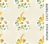 seamless floral pattern with... | Shutterstock .eps vector #1141758098