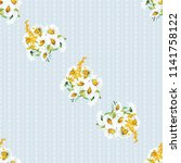 seamless floral pattern with... | Shutterstock .eps vector #1141758122