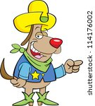 cartoon illustration of a dog... | Shutterstock .eps vector #114176002