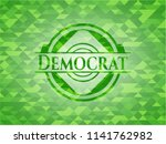 democrat green emblem with... | Shutterstock .eps vector #1141762982