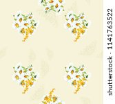 seamless floral pattern with... | Shutterstock .eps vector #1141763522