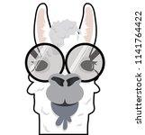 head alpaca funny vector | Shutterstock .eps vector #1141764422
