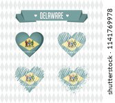 delaware. collection of four... | Shutterstock .eps vector #1141769978