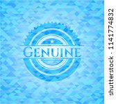 genuine sky blue emblem. mosaic ... | Shutterstock .eps vector #1141774832