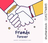 friends forever greeting card... | Shutterstock .eps vector #1141776845