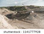coal mining at an open pit.... | Shutterstock . vector #1141777928