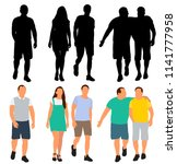 isolated  set of walking... | Shutterstock .eps vector #1141777958