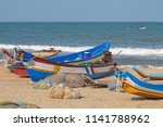 part of the local fishing fleet ... | Shutterstock . vector #1141788962