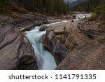the mistaya river flows through ... | Shutterstock . vector #1141791335