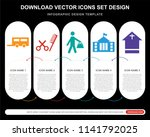 5 vector icons such as road... | Shutterstock .eps vector #1141792025