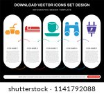5 vector icons such as... | Shutterstock .eps vector #1141792088