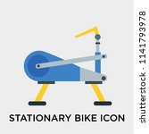 stationary bike icon vector... | Shutterstock .eps vector #1141793978
