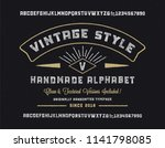original handmade alphabet.... | Shutterstock .eps vector #1141798085