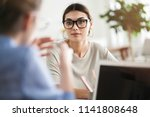 business people discussion... | Shutterstock . vector #1141808648