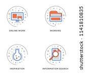 online work  working ... | Shutterstock .eps vector #1141810835