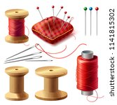 vector realistic set of sewing... | Shutterstock .eps vector #1141815302