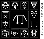 set of 13 simple editable icons ... | Shutterstock .eps vector #1141819538