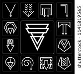 set of 13 simple editable icons ... | Shutterstock .eps vector #1141819565