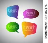 colorful speech bubbles | Shutterstock .eps vector #114182176