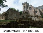 ancient ruins and gothic... | Shutterstock . vector #1141823132