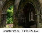 gothic arches viewed from the... | Shutterstock . vector #1141823162