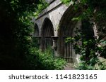 gothic arches viewed from the... | Shutterstock . vector #1141823165